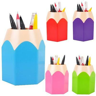 2.Makeup Brush Pencil Pen Holder Cute Stationery Desk Container Storage Box Vase