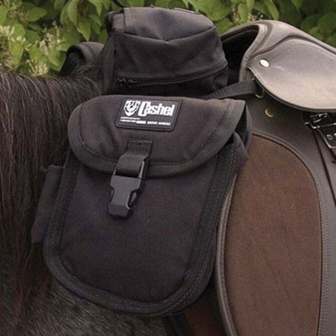 Cashel English Front Saddle Bag - Black NEW
