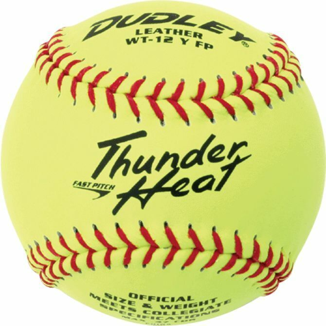 "Dudley 12"" Thunder Heat Leather Fastpitch Softball (Dozen)"