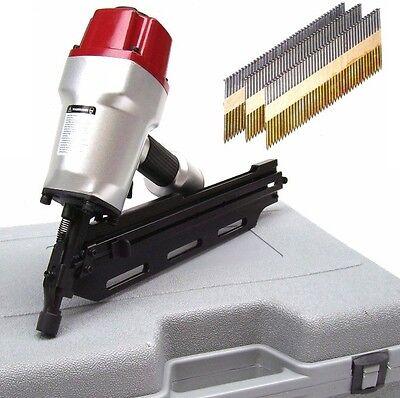 55422 Druckluft Nagelgerät 34° Nagler incl 1000 Nägel Streifennagler 55-90mm