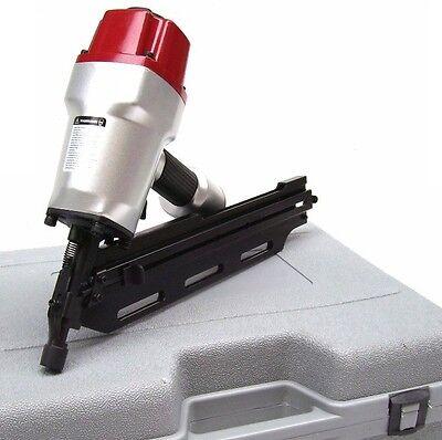 Druckluftnagelgerät Nagler Streifennagler 55-90mm Magazinnagler Nagelgerät 34°