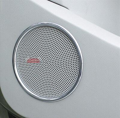 Speaker Trim Rings - ABS Chrome Trim Speaker Rings Cover For Ford Kuga Escape MK2 2013 14 15 16 2017