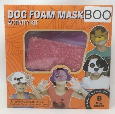 Halloween Dog Foam Mask Activity Kit - Fall Craft Kids Ages - Autumn Halloween Activities