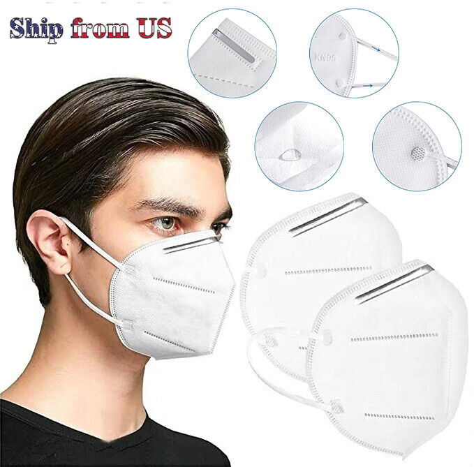 KN95 Face Mask Mouth Cover PM2.5 Breathable 5-Layers Respirator K N95 Nano Mask Business & Industrial