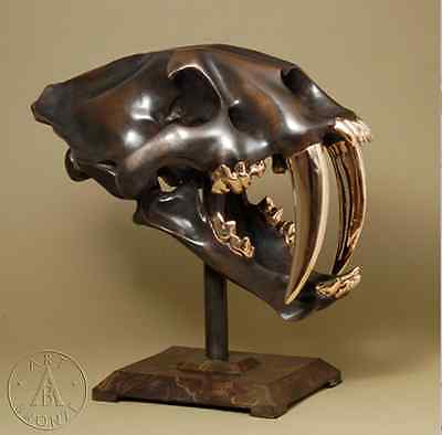Used, Saber Tooth Tiger Skull in Fine Cast Bronze for sale  Shipping to Canada