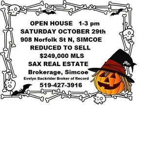 OPEN HOUSE SATURDAY OCTOBER 29th  1-3 pm   REDUCED TO SELL!