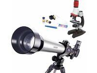 Akor telescope and microscope set