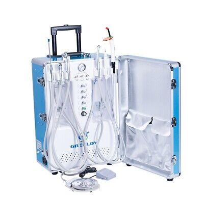 Portable Dental Unit With Air Compressor Curing Lightscaler3-way Syringe 2h