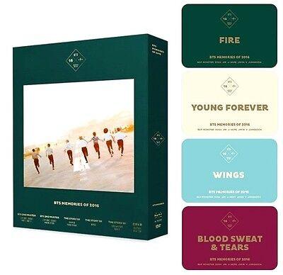 BTS MEMORIES OF 2016 DVD(4 DISC)+Photo Book 188p+Photo Card+Express Shipping