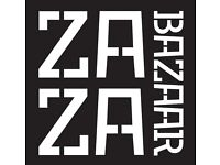 ZaZa Bazaar Needs Waiters, Bartenders and Receptionist.