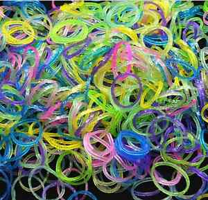 600pcs-Sequins-Multicolor-Refill-Rubber-Band-DIY-Kids-Crafts-Making-Bracelet