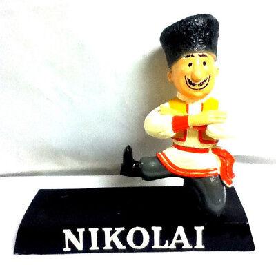 Nikolai vodka bar sign chalkware chalk figure statue cossackman guy bottle FV5