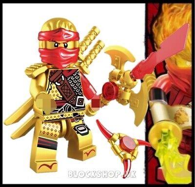 NINJAGO RARE - LEGENDARY GOLD KAI CRYSTAL HANDS OF TIME - fits lego figure (L7)