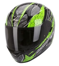 New Scorpion EXO-410 Rad Green Motorcycle Helmet