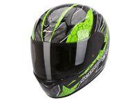 New Scorpion EXO-410 Rad Green Motorcycle Helmet
