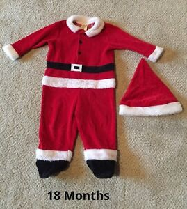 18Month Santa Outfit & Hat