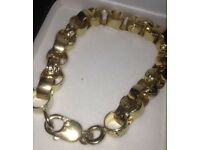 Mens 9ct Gold Belcher Bracelet