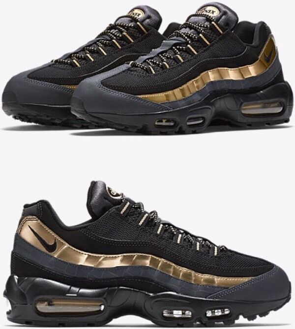 pvotv Nike Air Max 95 Premium [Black Metallic Gold] | in Sandwell, West