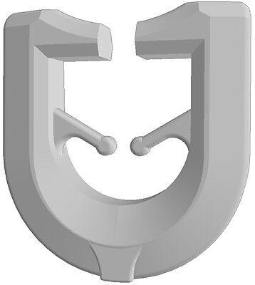GARDINEUM T-Gleiter Gardinenschiene Gardinenhaken Gardinenzubehör T-Schiene weiß
