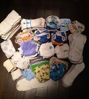 Complete cloth diaper set (new born to toilet trained)