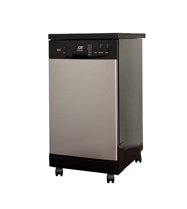 how do portable dishwashers work