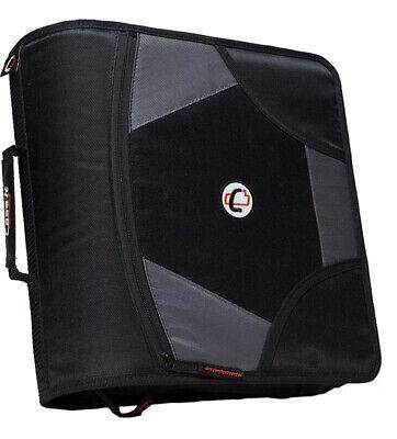 Case It Case-it King Sized Zip Tab 4 3-ring Zipper Binder Black D-186 Blk