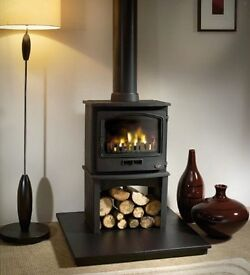 Cast iron heavy duty wood burner.