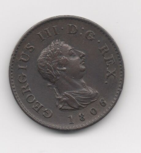 1806 COPPER ENGLISH GEORGE III FARTHING - XF