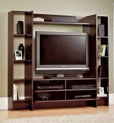 Entertainment Center Wall Unit Storage Cabinet TV Stand Console Media Furniture ()