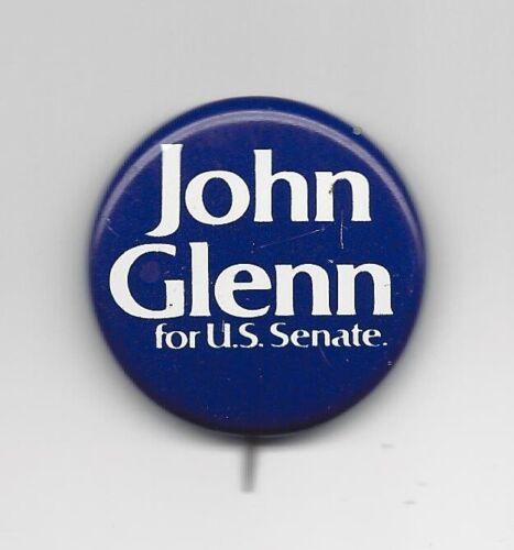 John Glenn Ohio (D) US Senator 1974-98 astronaut political pin button #1
