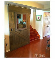 Custom LOFT DOORS - made from reclaimed wood