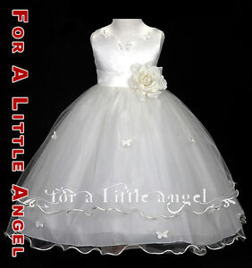 NEW-FLOWER-GIRL-ROSE-BUTTERFLIES-WEDDING-DRESS-2-4-6-8