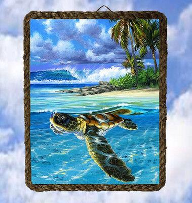 Tropical Ocean 43 Beach Wall Decor Art Prints Sea Turtle lalarry Wood Signs  - Turtle Decor