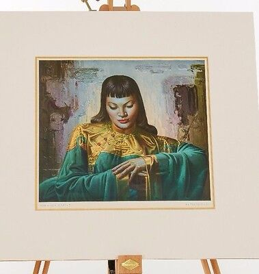 Original Vladimir Tretchikoff Lady from Orient 1950's print in perfect condition