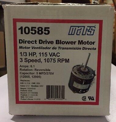 Mars 13hp 115v 1075rpm Blower Motor 10585