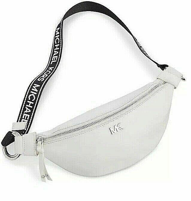 Michael Kors White Silver Sport Belt Bag