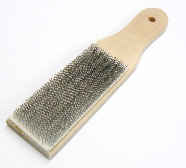 FILE CARD Cleaner File Brush Clean Files Remove Chips Metal Bits LUTZ #10 USA
