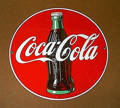 Vintage COCA-COLA Coke PORCELAIN ENAMELED Display Sign