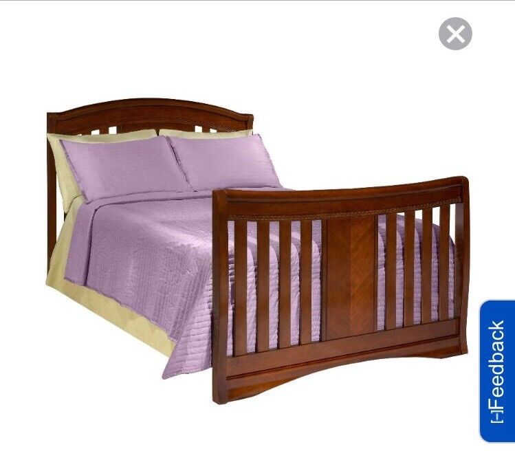 Simmons Kids Wood Full Size Bed Rail - Espresso Truffle