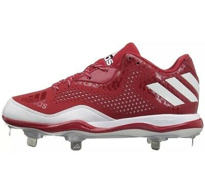 premium selection 96b52 6da04 Adidas PowerAlley 4 Men s Baseball Cleats Shoes Q16486 Red White Silver Size  13