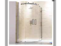 Capua 1200x800mm Sliding Door Offset Quadrant Shower Enclosure