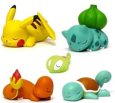 Detective Pikachu Pokemon Bulbasaur Squirtle Pikachu Sleeping Figure Landscape