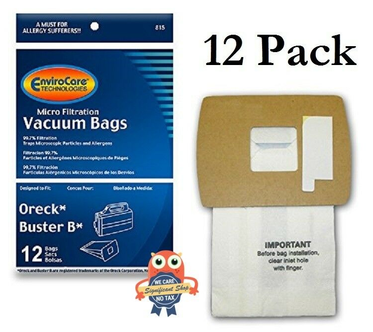 Vacuum Cleaner Bags Oreck Bag 12 Pack Canister Style XL