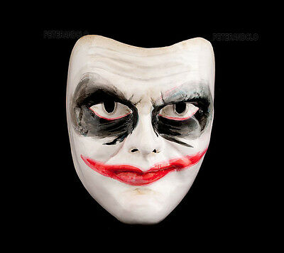 Mask from Venice Joker Dark in Paper Mache Authentic Venetian 499