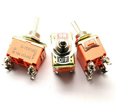 101221 Toggle Switch 4 Screw Terminal 2 Position Dpst Locking On-off 250v 15a