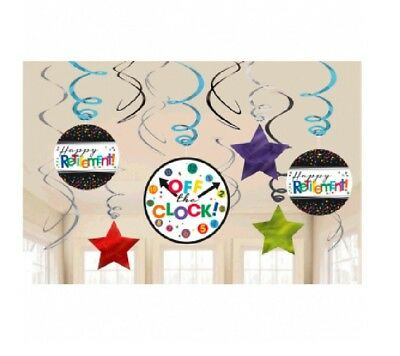Retirement Hanging Swirls Party Decorations Supplies Happy Retirement