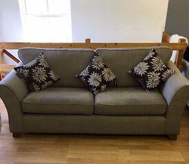 Brand new 3 seater sofa grey fabric