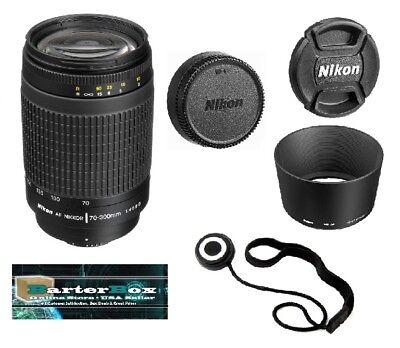 Sale 70-300 Nikon Af Zoom Nikkor 70-300mm f/4-5.6G Lens + Free Cap Keeper