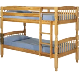 Brand new condition pine bunk bed with mattresses . Excellent conditi
