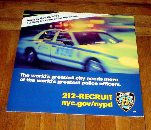 NYPD 2003 RECRUITMENT NYC SUBWAY POSTER #2